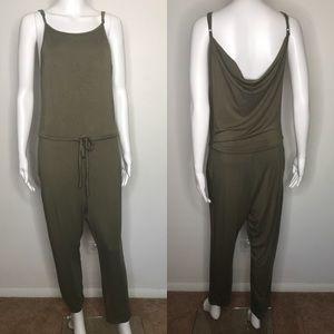 Toni Green Bodysuit with Pockets Medium